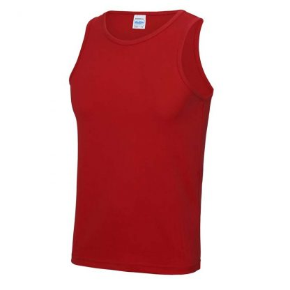 Polyester Cool Vest - JC007-FIRE-RED-(FRONT)