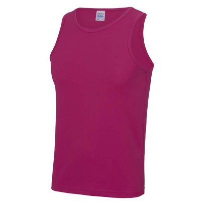 Polyester Cool Vest - JC007-HOT-PINK-(FRONT)