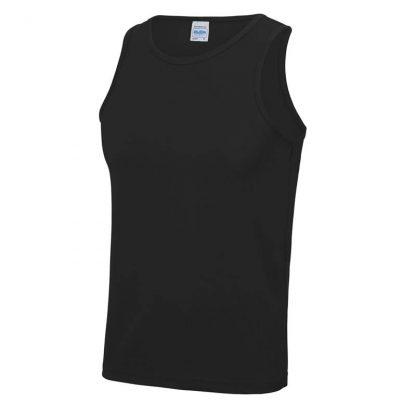 Polyester Cool Vest - JC007-JET-BLACK-(FRONT)