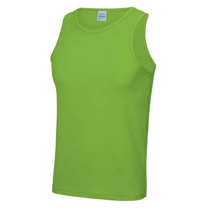 Polyester Cool Vest - JC007-LIME-GREEN-(FRONT)