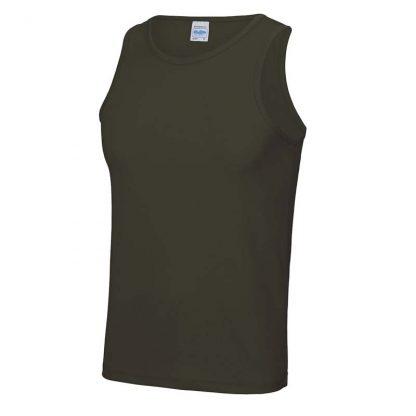 Polyester Cool Vest - JC007-OLIVE-GREEN-(FRONT)