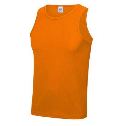 Polyester Cool Vest - JC007-ORANGE-CRUSH-(FRONT)