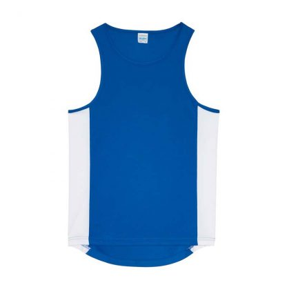 Polyester Cool Contrast Vest - JC008-ROYAL-BLUE_ARCTIC-WHITE-(FLAT)