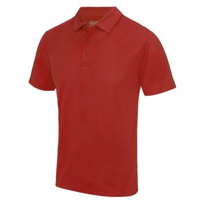 Cool Polo - JC040-FIRE-RED-(FRONT)
