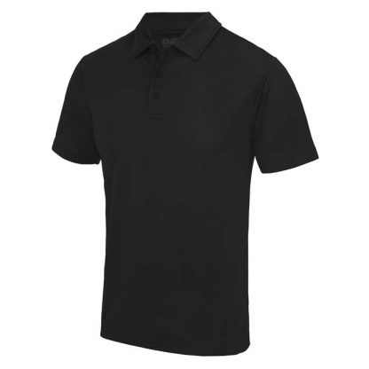 Cool Polo - JC040-JET-BLACK-(FRONT)
