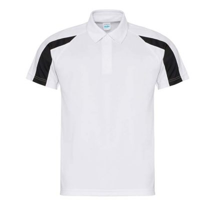 Contrast Cool Polo - JC043-ARCTIC-WHITE_JET-BLACK-(FRONT)
