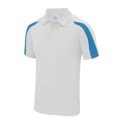 Contrast Cool Polo - JC043-ARCTIC-WHITE_SAPPHIRE-BLUE-(FRONT)
