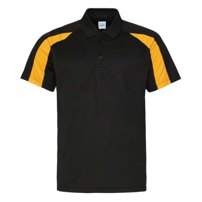 Contrast Cool Polo - JC043-JET-BLACK_GOLD-(FRONT)