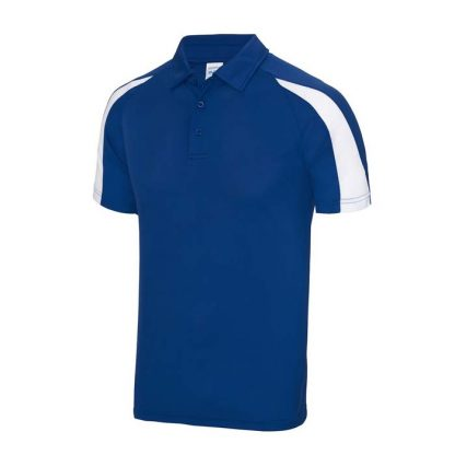 Contrast Cool Polo - JC043-ROYAL-BLUE_ARCTIC-WHITE-(FRONT)