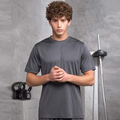 JUST COOL Polyester Cool T - JCA001_CHARCOAL