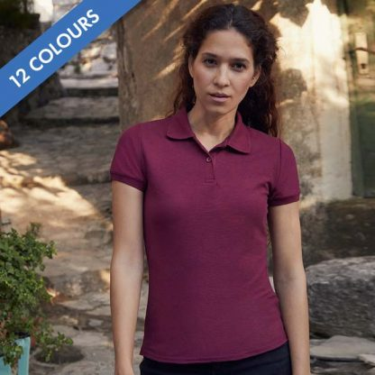 Ladies Fit 65/35 Polo - SPLPC_63-212-white