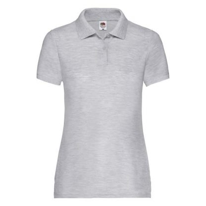 Ladies Fit 65/35 Polo - SPLPC_63-212-heather-grey