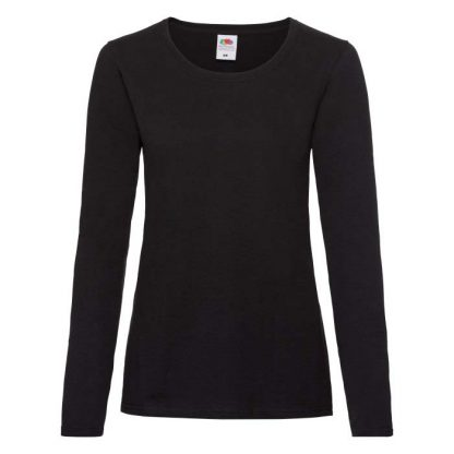 Lady-Fit Valueweight Long Sleeve T - SS47_61-404-black