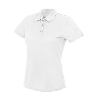 Girlie Cool Polo - JC045-ARCTIC-WHITE-(FRONT)