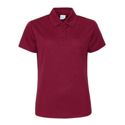 Girlie Cool Polo - JC045-BURGUNDY-(FRONT)