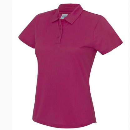 Girlie Cool Polo - JC045-HOT-PINK-(FRONT)