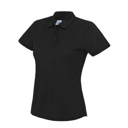 Girlie Cool Polo - JC045-JET-BLACK-(FRONT)