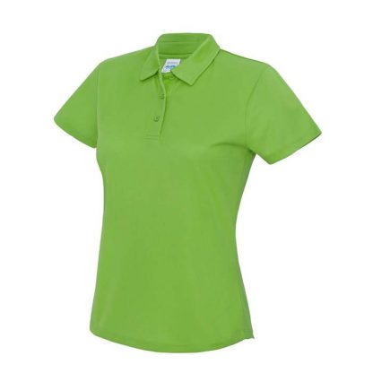 Girlie Cool Polo - JC045-LIME-GREEN-(FRONT)