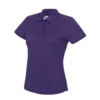 Girlie Cool Polo - JC045-PURPLE-(FRONT)