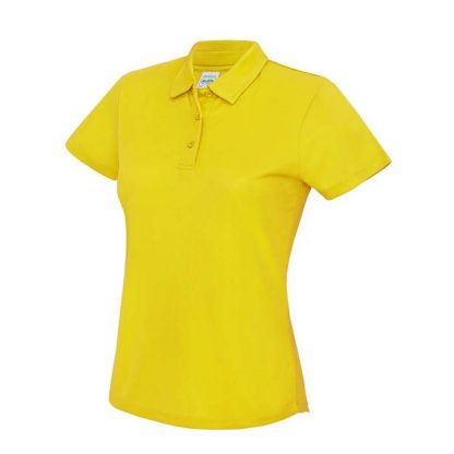 Girlie Cool Polo - Girlie Cool Polo - JC045-SUN-YELLOW-(FRONT)
