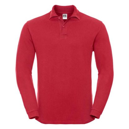 Long Sleeve Classic Cotton Polo - R_569L_classic-red_bueste_front