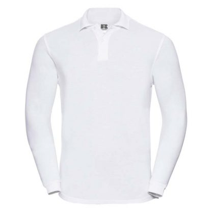 Long Sleeve Classic Cotton Polo - R_569L_white_bueste_front